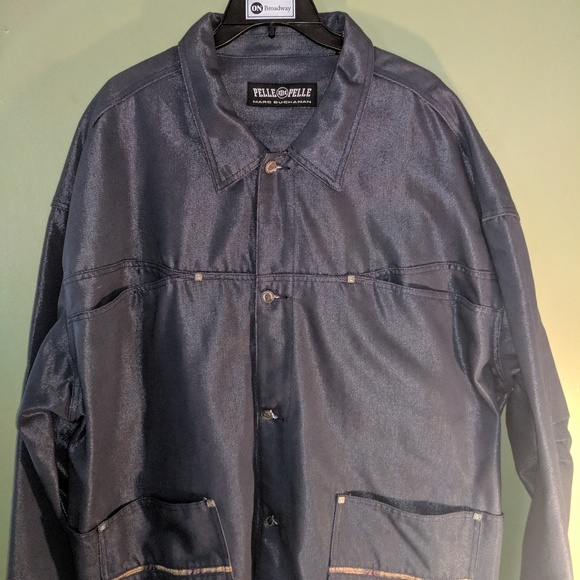 Pelle Pelle Other - Pelle Pelle Navy Denim Jacket Sz. XXXL